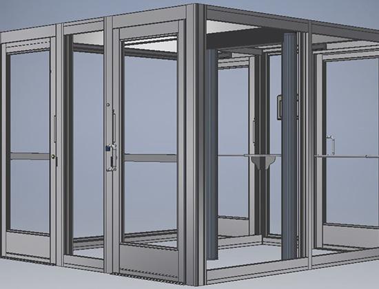 Entrance Security Vestibule, Glass Vestibule Entry